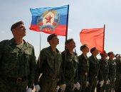 صور.. عرض عسكرى فى أوكرانيا استعدادا للاحتفال بيوم النصر على النازية
