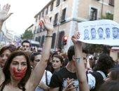 صور.. الآلاف يتظاهرون فى مدريد ضد التحرش بعد جريمة اغتصاب فتاة