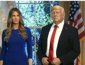 """فيديو..  تمثال الرئيس الأمريكى وزوجته ميلانيا فى متحف """"مدام تيسو"""" بنيويورك"""