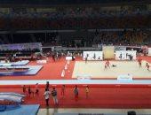 انطلاق فعاليات البطولة الأفريقية للجمباز الإيقاعي والترامبولين