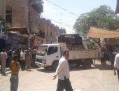 إزالة 542 حالة تعد وإشغالات بشوارع مدينة ببا فى بنى سويف