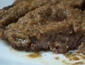 طريقة عمل ستيك لحمة بصوص الزبادى والثوم