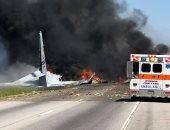 صور.. الشرطة الأمريكية تعلن مقتل شخصيين فى تحطم طائرة الشحن بجورجيا