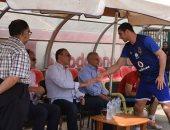 الخطيب يحضر مران الأهلى قبل السفر لمواجهة النجمة اللبنانى