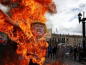 صور.. أعمال شغب واشتباكات خلال احتفالات عيد العمال بكولومبيا