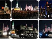 """استعراض عسكرى فى روسيا استعدادا  للاحتفال بـ""""عيد النصر"""""""