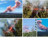 حمم بركان هاواى بأمريكا تدمر الأخضر واليابس وإجلاء آلاف السكان