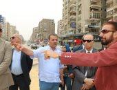 محافظ القاهرة يتفقد أعمال تطوير شارع عباس العقاد وميدان سراى القبة