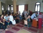 صور.. حملة للتبرع بالدم بفوة وإزالة التعديات على طريق عام بكفر الشيخ