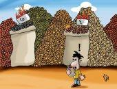 """حال الدنيا .. أسعار ياميش رمضان.فى كاريكاتير """" اليوم السابع"""""""