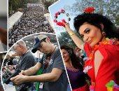 """صور.. العالم هذا الصباح.. اللبنانيون يصوتون بأول انتخابات برلمانية منذ9 سنوات.. مظاهرات فى البرازيل وكولومبيا تطالب بتقنين الماريجوانا.. """"مهاويس السلاح"""" يتجمعون بمعرض أسلحة بتكساس.. مسيرة لمكافحة الفقر بالفلبين"""