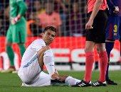ريال مدريد يصدر بيانا بشأن إصابة كريستيانو رونالدو فى الكلاسيكو