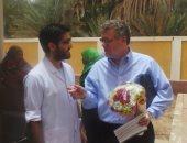 صور ..وفد الوكالة الأمريكية يزور وحدة صحية فى محافظة أسوان