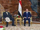الرئيس السيسى يستقبل نظيره الأوغندى يورى موسيفينى بقصر الاتحادية