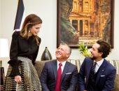 صورة جديدة تجمع الملكة رانيا بزوجها العاهل الأردنى وولى العهد