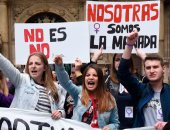 """صور.. تظاهرات فى إسبانيا ضد جرائم الاغتصاب تحت شعار """"أنثى بلا خوف"""""""