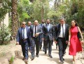 وزير الآثار يصطحب رئيس دائرة أبو ظبى للسياحة والثقافة فى جولة بقصر محمد على