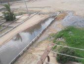 شكوى من غرق المنطقة الرابعة بمدينة السادات في مياه الصرف الصحى