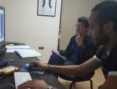 """خالد النبوى يخص """"اليوم السابع"""" بصور من داخل غرفة مونتاج أدعية """"كن مع الرحمن"""""""