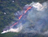 صور.. انفجار ضخم وتشقق صدع جديد فى بركان ولاية هاواى الأمريكية