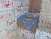 صور.. شرطة التموين تضبط 560 كيلو لحوم مجهولة قبل ترويجها بروض الفرج