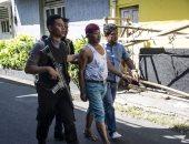 صور.. تأبين ضحايا الهجمات الإرهابية بإندونيسيا.. ودوريات أمنية مكثفة للشرطة