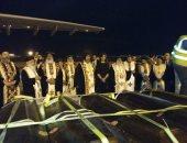 أول صور للحظة وصول رفات شهداء الأقباط المصريين بالمطار قادمة من ليبيا