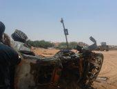 إصابة 15 شخصا فى تصادم وانقلاب سيارات بسبب الشبورة ببنى سويف