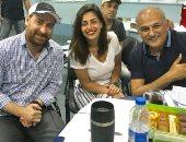 """صور.. جمال سليمان ونضال الشافعى ومنة فضالى يواصلون تسجيل حلقات """"لست وحدك"""""""