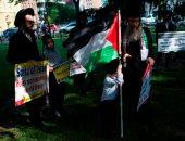 صور.. مظاهرات يشارك فيها يهود ضد الاحتلال الإسرائيلى فى مدينة واشنطن