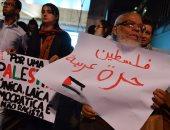 صور.. مظاهرات بالبرازيل ضد الاحتلال.. وأعلام فلسطين على مبانى ساو باولو