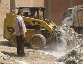 صور .. رئيس مدينة منوف يطلق حملات نظافة مكبرة بقرى المركز