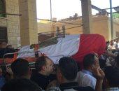 صور.. جنازة عسكرية مهيبة للشهيد عبد المجيد الماحى فى السنطة بالغربية