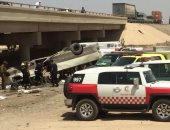 """وفاة 9 معتمرين وإصابة 18 فى انقلاب حافلة على طريق """"المدينة- مكة"""""""