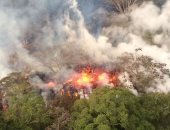 """بركان """"كيلاويا"""" يثور مجددا ويطلق حمما و سحابة سوداء بولاية هاواى"""