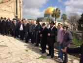 مستوطنون يقتحمون المسجد الأقصى بحراسة قوات الاحتلال الاسرائيلى
