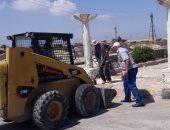 صور .. حملات نظافة وتوسعة الشوارع بمصيف بلطيم