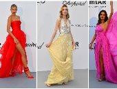 بالفوشيا والأصفر الفساتين الملونة تسيطر على حفل جالا لمكافحة الإيدز
