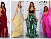 بالفوشيا والأصفر.. الفساتين الملونة تغلب على حفل مكافحة الإيدز