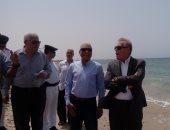 صور.. محافظ جنوب سيناء يصدق على 250 ألف جنيه لاستكمال الشاطئ العام بطور سيناء