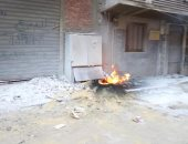 السيطرة على حريق بكابينة كهرباء بحى المرج دون إصابات