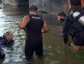 الإنقاذ النهرى يكثف جهوده لانتشال جثة شاب غرق بنهر النيل فى الصف