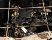 شهود عيان يؤكدون امتداد حريق سوق بولاق الدكرور لـ3 محال تجارية.. صور
