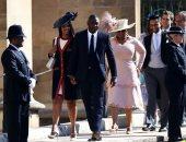 صور.. أوبرا وينفرى وإدريس إلبا يصلان حفل زفاف الأمير هارى وميجان ماركل