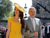 صور.. جورج كلونى وأمل علم الدين يخطفان الأنظار بحفل زفاف الأمير هارى وميجان