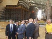 صور.. وزير الآثار يتفقد المتحف الكبير لمتابعة سير العمل بالموقع