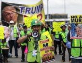 """صور.. مظاهرة فى المكسيك تنديدا بسياسة """"ترامب"""" ضد الهجرة إلى أمريكا"""