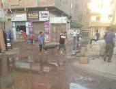 غرق شوارع قرية كفر حجازى بالمحلة الكبرى فى مياه الصرف الصحى