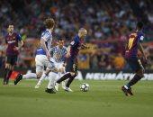 التعادل السلبى يحسم الشوط الأول من لقاء برشلونة وريال سوسيداد