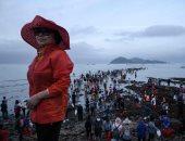 صور.. كوريا الجنوبية تحتفل بظاهرة سنوية تشبه معجزة موسى فى شق البحر